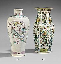 A famille rose vase. 18th/19th century