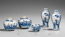 Blue and white miniature brush washer. 19th century