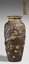 A very fine iron vase. Late 19th century