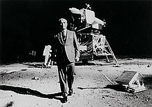 NASA, Dr. Wernher von Braun, one of the leaders in America's space flight program, took a walk on the Moon, 1969