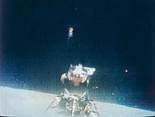 NASA, TV picture, Apollo 16: Lunar module