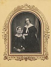 Carl Ferdinand Stelzner, Dorothea Margaretha Faulwasser (née Gravenhorst) and her daughter Emilie, c. 1845