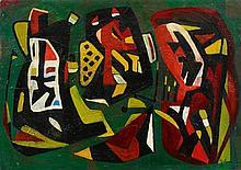 Jo Brenneis, Formen auf Grün, 1949