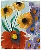 Emil Nolde, Rote, gelbe und violette Blüten, Circa 1930/40