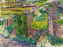 Théo van Rysselberghe, La Pergola (La Mortola ?), 1917 - 1926