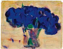 Christian Rohlfs, Topf mit blauer Blume, 1919