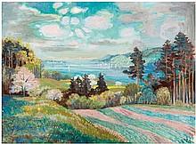 Otto Dix, Frühling auf der Höri mit Blick auf Steckborn, 1946