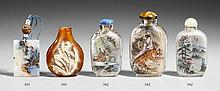 Three inside painted glass snuff bottles