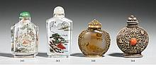 Two glass snuff bottles. 20th century