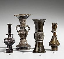 A small bronze vase. 16th/17th century