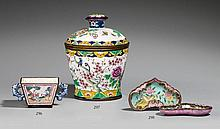A small Kanton painted enamel cup. 19th century