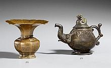 A small South-East Asian bronze ewer. Sarawak or Brunei. 19th century or earlier