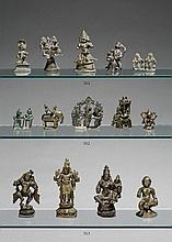 A group of Central and Southern India bronze figures. 16th/19th century