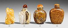 Two stone snuff bottles