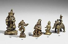 Three bronze figures. 19th century