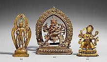 A Nepalese bronze figure of Chakrasamvara in yab yum. 19th/20th century