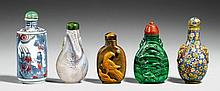 Seven snuff bottles. 19th/20th century
