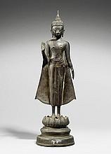 An Ayutthaya bronze figure of Buddha Shakyamuni. 18th/19th century