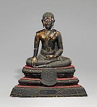 A Ratanakosin bronze figure of Pra Malay. 19th/early 20th century