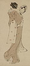 A drawing after Hokusai. 19th century