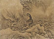 An anonymous hanging scroll depicting two pheasants. Edo period