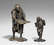 A bronze figure of a peasant. Late 19th century