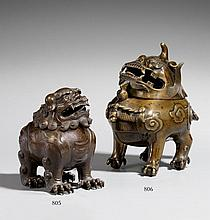 A bronze incense burner in Chinese style. 19th century