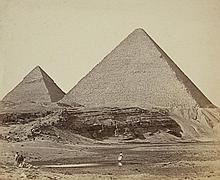 Felice Beato, James Robertson, Pyramids of Gizeh, Egypt,