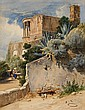 CARL FRIEDRICH WERNER, A VIEW OF THE TEMPLE OF THE TIBURTINE SIBYL IN TIVOLI