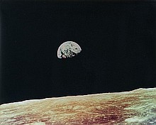 NASA, Earthrise, Apollo 8,  1968
