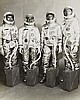 NASA, Astronauts Young, Grissom, Schirra and Stafford pose in their spacesuits after   being selected for the first Gemini manned mission,  1965