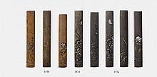 Three copper kozuka. 18th/19th century
