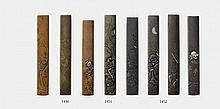 A shibuichi and copper kozuka. 18th/19th century