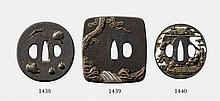 Two iron tsuba. Edo period