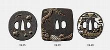 An iron tsuba. 19th century