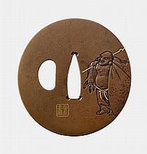 A copper tsuba. 18th century