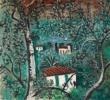 Max Peiffer Watenphul, Landschaft am Gardasee (Blick auf einen See), 1930/1935