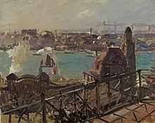 Ulrich Hübner, Aus dem Hamburger Hafen, 1911