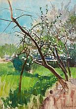 Karl Hagemeister, Apfelblüte, 1884