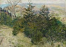 Otto Dix, Herbstliche (Elb?)landschaft, Circa 1910