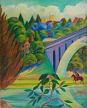 Stanislaus Stückgold, Landschaft mit Reiter, 1913