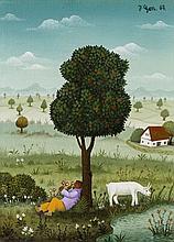 Jossip Generalic, Rast unter dem Apfelbaum, 1967