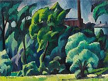 Adolf Erbslöh, Landschaft mit Fabrik, 1915