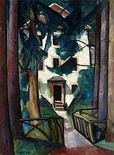 Alexander Kanoldt, Villa Edmond About, Zabern (Hauseingang), 1917
