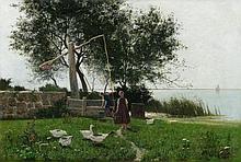 Walter Leistikow, Die Gänseliesel am Müggelsee, 1889