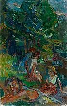 Michel Kikoïne, Jeunes filles sous les arbres, 1940-1945