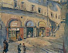 Richard Bloos, Aufgang zum Hradschin, Prag, 1924