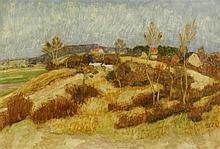 Otto Modersohn, Frühlingsbild mit Ziegenhirtin in der Quelkhorner Heide, 1923
