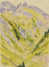Fritz Bleyl, Gebirgslandschaft, 1924