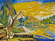 Bruno Krauskopf, Amerikanische Landschaft, Circa 1950